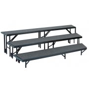 3-Level, Tapered Choral Riser Set, Carpeted (24