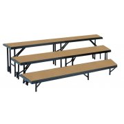 3-Level, Tapered Choral Riser Set, Hardboard (24