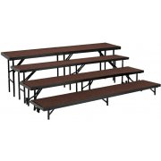 Standing Choir Riser Set - Carpeted, 4-Level (18