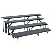 Standing Choir Riser Set - Tapered, Carpeted, 4-Level (18