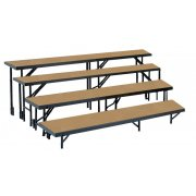 4-Level, Tapered Choral Riser Set, Hardboard (32