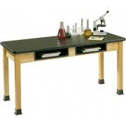 Science Lab Table- Epoxy Resin Top and Book Boxes (54x24x30