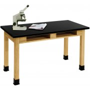 Science Lab Table with Phenolic Top and Book Boxes (72x30x30