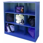 9-Slot Steel Cubby Unit