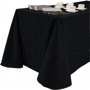 60x108 Tablecloth Tuxedo Stripe