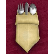 Dinner Napkins 20X20 12-Pack Tuxedo Stripe