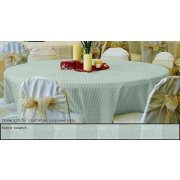 70in Round Tablecloth Tuxedo Stripe