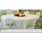 90in Round Tablecloth Light Spun Polyester