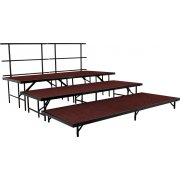 36in Deep Choral Riser Add-On Set, Carpeted