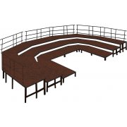 48 Inch Deep Band Riser Base Set, Carpeted