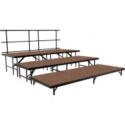 36in Deep Choral Riser Add-On Set, Hardboard