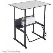 "Alphabetter Sit/Stand Desk - Premium Top, 36""x24"""