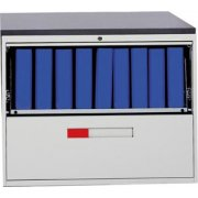 Lateral File with 1 Drawer and 1 Slide-out Shelf