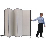 Light Duty Portable Partition - 5 Panels (6'5