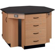 4-Student Octagon Island Table (Laminate Top)