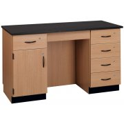 Compact Island Lab Desk (Laminate Top)