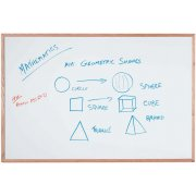 Magnetic Steel Whiteboard with Wood Frame (4'x3')