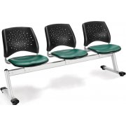 Stars Beam Seating in Vinyl - 3 Seater