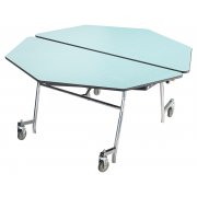 NPS Octagon Cafeteria Table - Plywood, Chrome (60x60