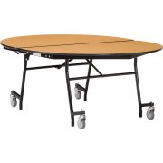"Folding Oval Cafeteria Table - Plywood, ProtectEdge (72x60"")"