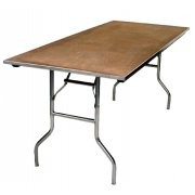 Plywood Rectangular Folding Table (72