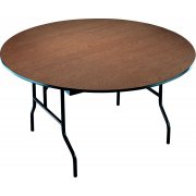 60in Round Plywood Folding Table