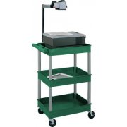 Colored Heavy Duty 3 Shelf AV Cart