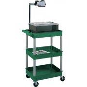 Colored Heavy Duty 3 Shelf AV Cart