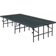 48 Inch Deep Portable Stage, Carpeted (32