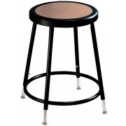 NPS Adjustable Metal Lab Stool - Black Frame (19-27