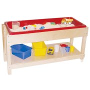 Large Wooden Sand and Water Table with Lid/Shelf (46x17