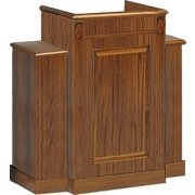 Wing Pulpit, Stained