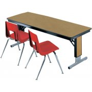 TL Table - Plywood-Adj. Height w/T-Legs (60x30