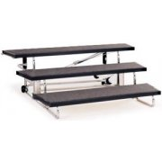 Transfold Portable Folding Choir Risers - 3 Levels (48