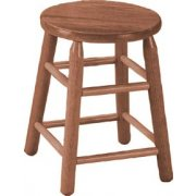Wood Stool in Medium Oak