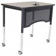 "Adjustable-Height Vantage Teacher's Desk (24x30"")"