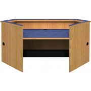 Ultima Modular Library Circulation Desk - Corner Patron Desk