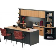 Unity Executive Suite with Hutch and Bookcases