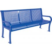 6ft Lexington Outdoor Bench with Back, Perforated