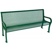 4' Lexington Outdoor Bench With Back, Diamond Cut