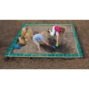ultraPLAY Outdoor Playground Sandbox with Cover - 10' Square