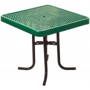 42 Inch Square Food Court Table Diamond Cut Top