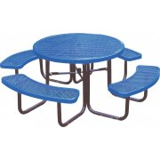 46-Inch Round Picnic Table Diamond Cut Surface