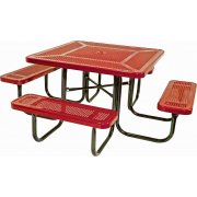 46 Inch Square Picnic Table Perforated Surface