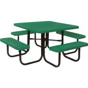 46 Inch Square Picnic Table Diamond Cut Surface