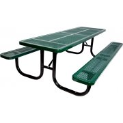 8' Extra Heavy Duty Perforated Picnic Table