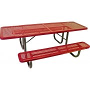 8' Wheelchair Accessible Perforated Picnic Table
