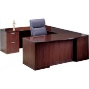 L Executive U-Shaped Desk with Full Pedestal