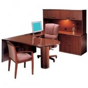 R Peninsula U-Shaped Desk- Full Pedestal
