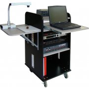 Deluxe Mobile Multimedia Lectern w/ flat top